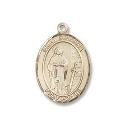 Gold Filled St. Susanna Pendant w/ Chain