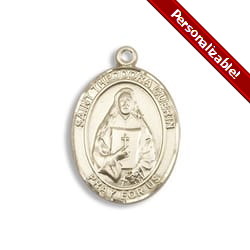 Gold Filled St. Theodore Guerin Pendant w/ Chain