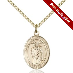 Gold Filled St. Thomas A Becket Pendant w/ Chain