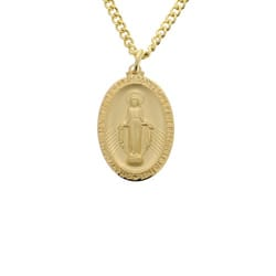 Gold/Sterling Silver Miraculous Medal on 24 inch chain