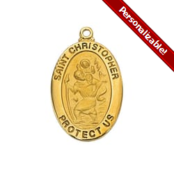 Engraved St  Christopher Medals & Pendants | The Catholic