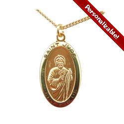 Gold/Sterling Silver St. Jude Medal<!judemedal>
