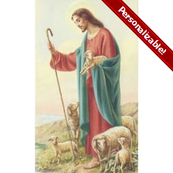 The Good Shepherd Personalized Prayer Card (Priced Per Card)