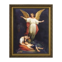 Guardian Angel (Children Resting) w/ Gold Frame