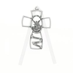 Guardian Angel Crib Cross with White Ribbon