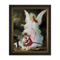 Guardian Angel on the Perilous Bridge w/ Dark Ornate Frame