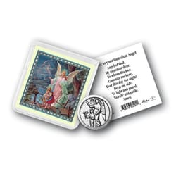Guardian Angel Pocket Coin with Holy Card