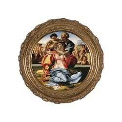 Holy Family by Michelangelo on Canvas w/ Ornate Gold Frame