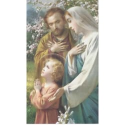 Holy Family Personalized Prayer Cards  (Priced Per Card)