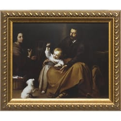 Holy Family w/ Small Bird by Murillo w/ Gold Frame