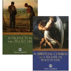 An Introduction to the Devout Life & The Spriritual Combat 2 Book Set