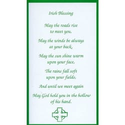 Irish Blessing Personalized Prayer Card (Priced Per Card)