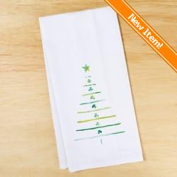 irish shamrock tree dish towel