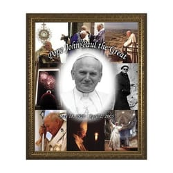 John Paul the Great Collage w/ Gold Frame
