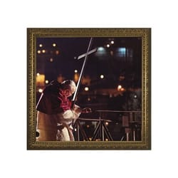 John Paul II (Via Crucis) w/ Gold Frame (13x13)