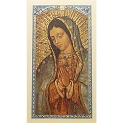 La magnifica virgen guadalupe magnificat spanish prayer card