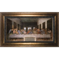The Last Supper on Canvas w/ Bronze Frame