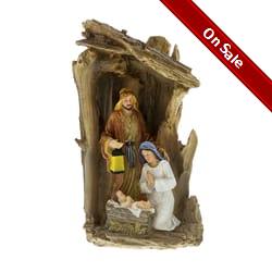 Lighted Holy Family Nativity