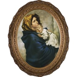 Madonna of the Streets on Canvas w/ Gold Oval Frame