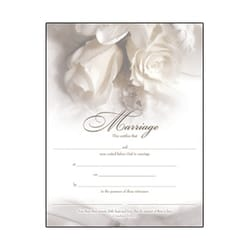 Marriage Certificate Gold-Foil Stamped