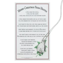 Merry Christmas from Heaven - Keepsake Locket w/Memory Box