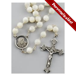 Mother of Pearl Rosary - 8mm