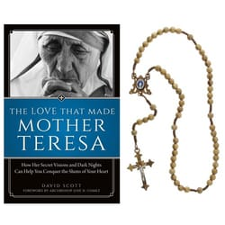 Mother Teresa Book and Rosary Gift Set