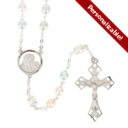 Multi-Color Pearl Bead Rosary