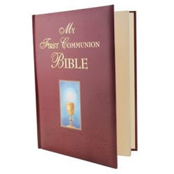 My First Communion Bible - Burgundy Cover