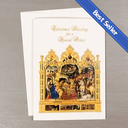 nativity blessings christmas card for priests - Christian Christmas Cards