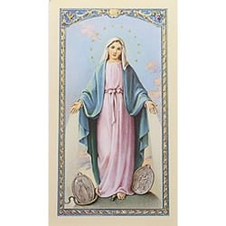 Oración a la Milagrosa (Our Lady of Grace) – Spanish Prayer Card