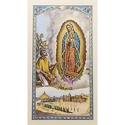 Oración a la Virgen de Guadalupe (Our Lady of Guadalupe and Juan Diego) - Spanish Prayer Card