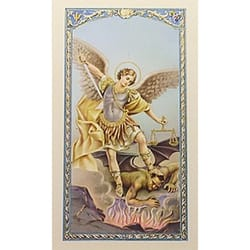 Oración a San Miguel Arcangel (St. Michael) – Spanish Prayer Card