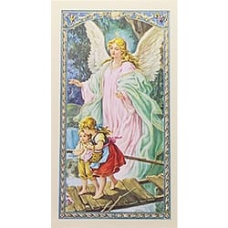 Oracion al Angel de la Guarda (Guardian Angel) -  Spanish Prayer Card