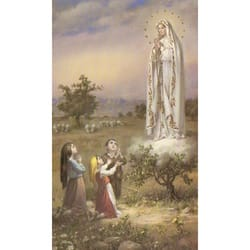 Our Lady of Fatima with Children Personalized Prayer Card (Priced Per Card)