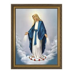 Our Lady of Grace w/ Gold Frame