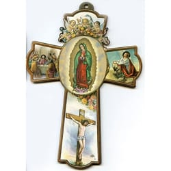 Our Lady of Guadalupe Wall Cross -  8  inches