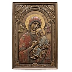 Our Lady of Perpetual Help Plaque, Bronzed 6x9
