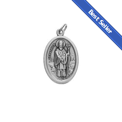 St patrick medals the catholic company oval st patrick our lady of knock medal aloadofball Images