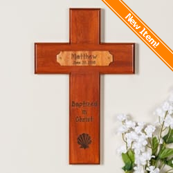Personalized Baptism Wood Cross