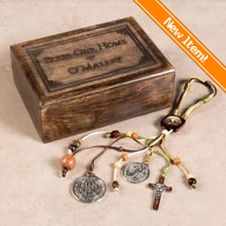 Attirant Personalized Benedict Medal Home Blessing Set