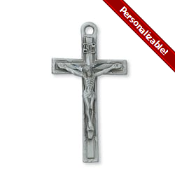 Pewter Crucifix with 24 inch chain