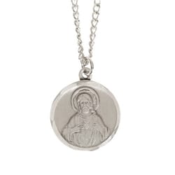 Pewter Scapular Medal with 24 inch chain