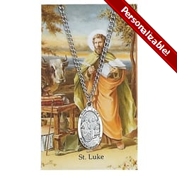 Pewter St. Luke Medal with Prayer Card