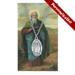 Pewter St. Matthew Medal with Prayer Card