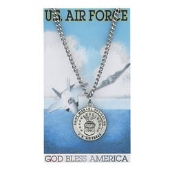 Pewter St. Michael Air Force Medal with Prayer Card