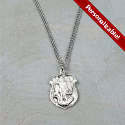 Pewter St. Michael Medal w/ 24 inch chain