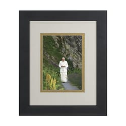 Pope Benedict in Mountains (Matted w/ Black Frame) 8x10