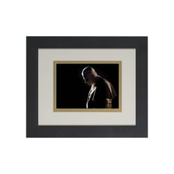 Pope Benedict in Prayer (Matted w/ Black Frame) 8x10