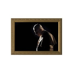 Pope Benedict in Prayer w/ Gold Frame